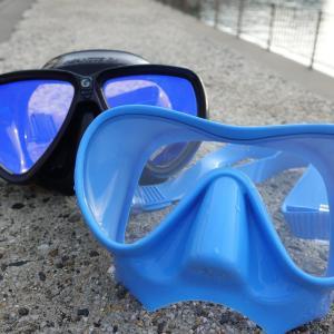 新品ダイビングマスクの油膜を歯磨き粉よりも落とす方法