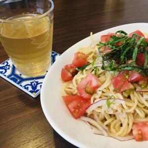 【今日の昼ごはん】ツナとトマトの冷製パスタ