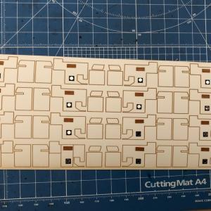 寝台特急あけぼのプロジェクト オハネ24-500 室内表現シール貼りつけ