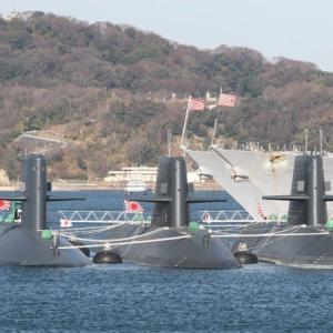 横須賀で潜水艦撮影