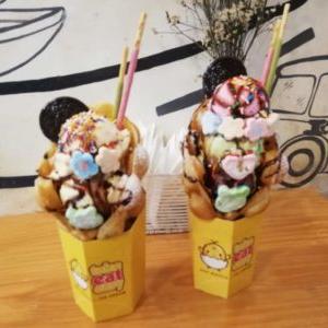 【Take Eat Easy Ice-cream & Cafe】ハノイのアイスクリーム店でインスタ映えワッフル&アイスを食べてみた