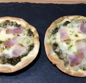餃子の皮ピザ(ジェノベーゼ)