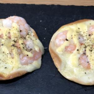 餃子の皮ピザ(エビマヨ)