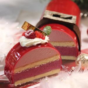 クリスマスケーキの断面
