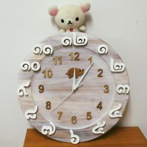 (世界にひとつ)手作りタイ文字掛け時計を作りました!