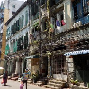 ヤンゴン ダウンタウンの風景