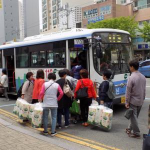 釜山の街で見かけたトイレットペーパーの爆買い