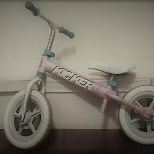 不要になったキックバイク。もう一度生かされる方法を考える。