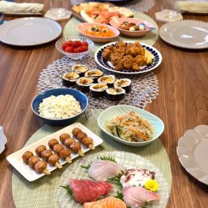 結婚記念日ディナー 成城石井のケーキでホールケーキ(風)
