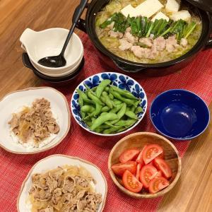 寄せ鍋スープで美味しいもつ鍋 コンビニスイーツ