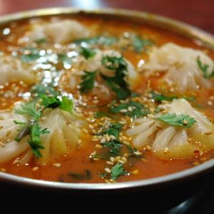 蕎麦の葉&グリンピースにスープモモ!