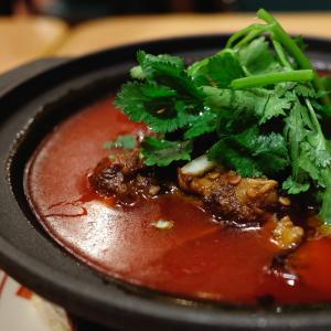 凉菜干丝からの水煮牛肉で一献!