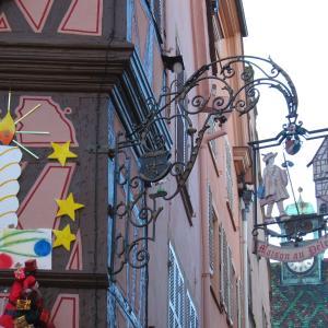 コルマール DAY2*吊り看板がかわいい!