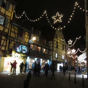コルマール DAY2*街のクリスマス飾りと夜の風景