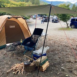 道志の森でキャンプ