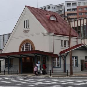 赤い三角屋根の旧国立駅駅舎を見に行く 2021年