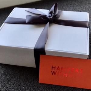Hamper (ハンパー)を2つももらいました。もらうと嬉しい贈り物。
