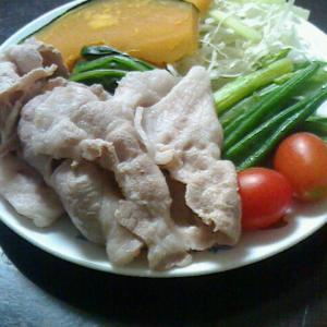 冷しゃぶと、温野菜