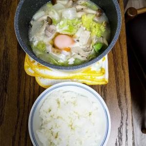 単身赴任シリーズ⑤白湯スープ鍋🍲