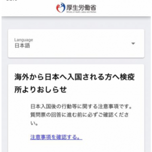日本入国までの流れ/羽田空港 5月5日入国