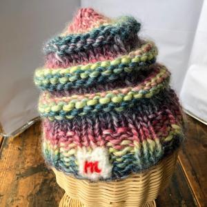 子供用ニット帽の編み図☆やどかり帽