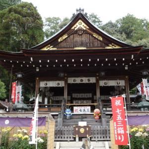 超久し振りにKちゃんに会う  近江八幡日牟禮神社参拝