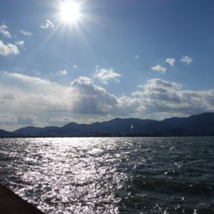 寒そうな湖面~  風邪を引きそうなくらい寒かった