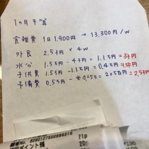 家計簿  何週目か忘れました〜(^-^;