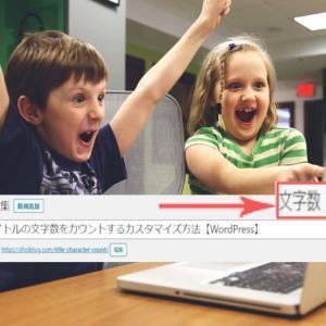 【コピペだけ】タイトルの文字数カウントを表示する方法【WordPress】