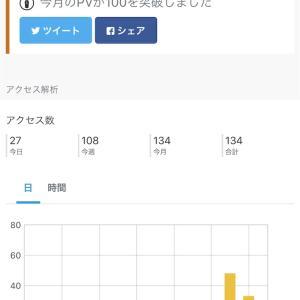 新米ブロガー月100PV達成! 〜やってみたこと〜