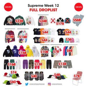 『5/16(土)発売』Supreme SS20 Week12