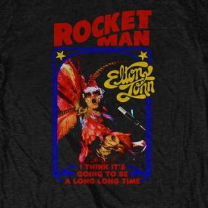 ★エルトン ジョン Tシャツ Elton John Rocketman 黒 正規品 #ロックTシャツ