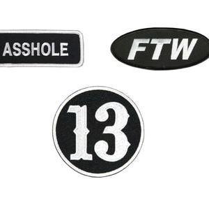 ★ホットレザー #ワッペン パッチ バイカー系 Asshole , FTW , 13 雑貨