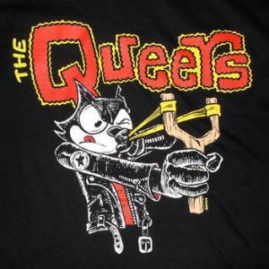 ★ザ・クイアーズ Tシャツ The Queers SLINGSHOT 黒 正規品 #ロックTシャツ