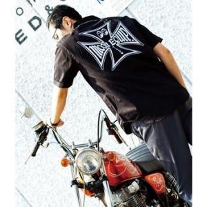 ★ムーンアイズ ワークシャツ 再入荷 MOONEYES 正規品 MOON Equipped Iron Cross
