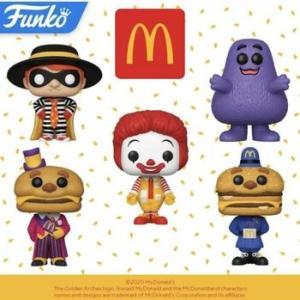 ★マクドナルド フィギュア 5p セット 入荷予定 McDonalds FUNKO POP 5pcs #TOY