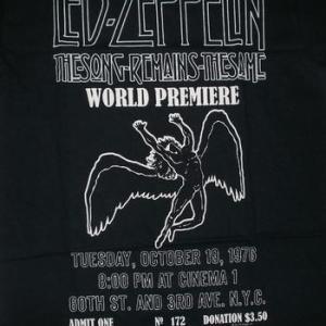 ★レッド ツェッペリン #Tシャツ Led Zeppelin WORLD PREMIER  入荷 #ロックTシャツ