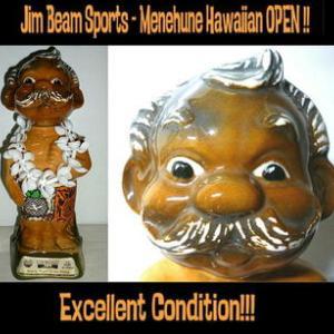 ★ #メネフネ デカンター 70s Vintage!! #MENEHUNE Jim Beam Hawaiian Open
