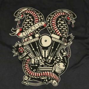 ★ラッキー13 TWIN COBRAS Tシャツ , パーカ #LUCKY13