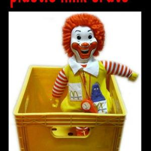 ★マクドナルド McDonalds Milk Crate Box ボックス 70s 業務用 #Vintage