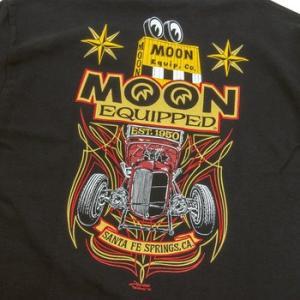 ★ムーンアイズ MOON ロードスター #Tシャツ MOONEYES Roadster 黒 正規品