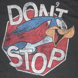 ★ロード ランナー Tシャツ #RoadRunner Don't Stop チャコール 正規品 Looney Tunes