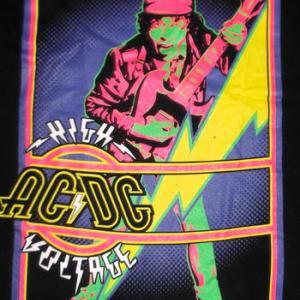 AC/DC Tシャツ エーシーディーシー HIGH VOLTAGE (GLOW) 正規品 ACDC ロックTシャツ