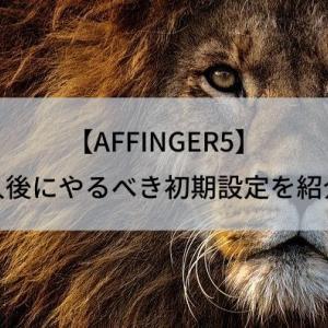 【AFFINGER5】購入後にやるべき初期設定を紹介!