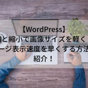 【WordPress】圧縮と縮小で画像サイズを軽くしてページ表示速度を早くする方法を紹介!