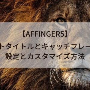【AFFINGER5】サイトタイトルとキャッチフレーズの設定とカスタマイズ方法