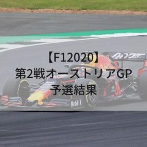 【F12020】第2戦オーストリアGP予選結果
