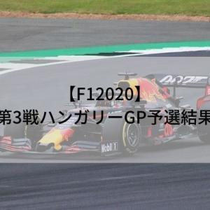 【F12020】第3戦ハンガリーGP予選結果