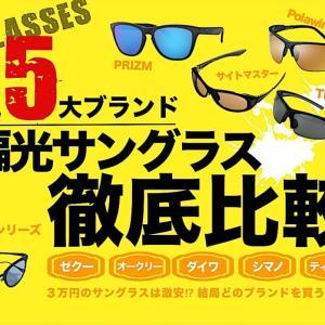 【エギングにおすすめ】偏光サングラス『人気5大ブランド』を徹底比較!