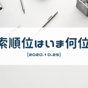 自分のサイトが検索エンジンで何位に表示されるのかを確認してみた(2020/10/25)